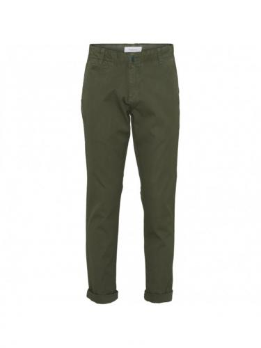 Chino Chuck regular - Green Forest - Knowledge cotton apparel
