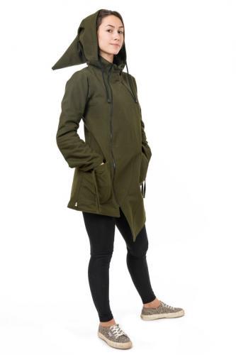 Manteau femme capuche lutin mandala Jiva