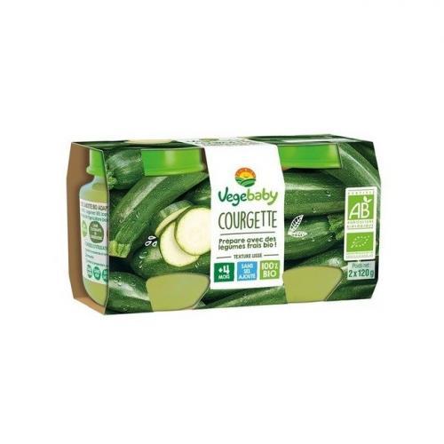 Vegebaby Petits pots Courgette 4 mois