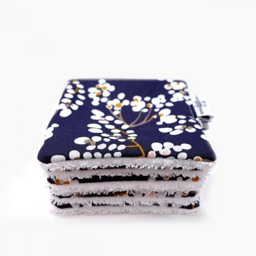 6 carrés lavables coton Bio Envie d'Asie