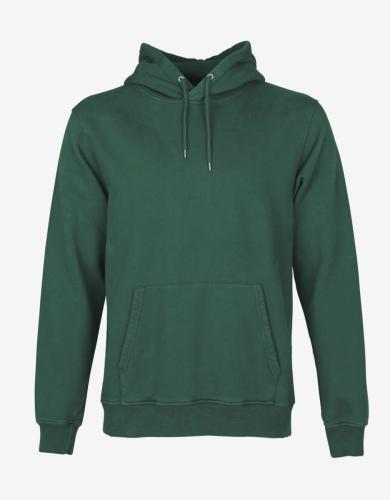 Hoodie vert en coton bio - emerald green - Colorful Standard