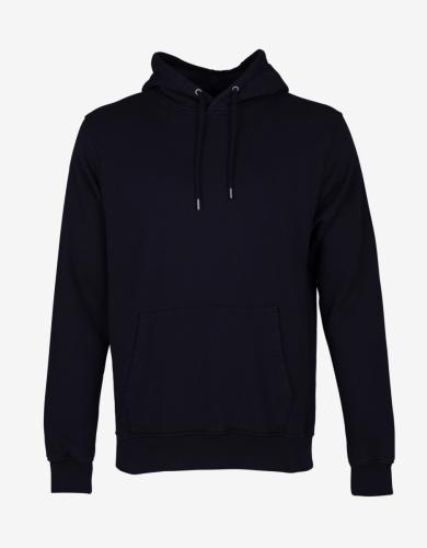 Hoodie noir en coton bio - deep black - Colorful Standard