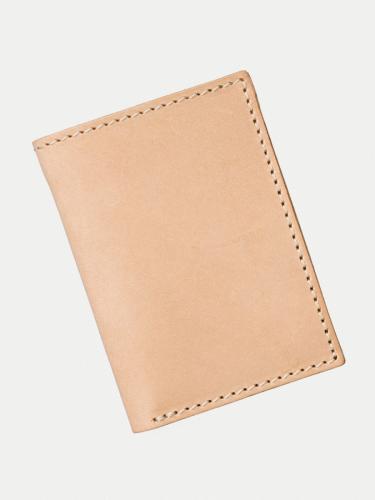 Portefeuille beige en cuir - hagdahl