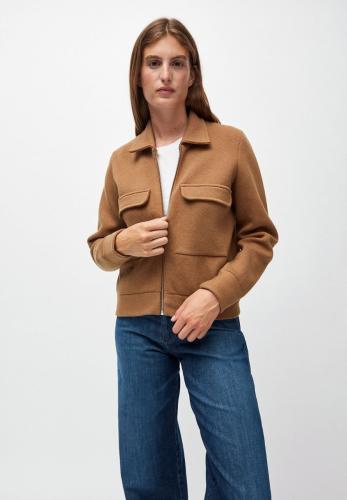 Veste marron en coton et laine bio  - alondraa
