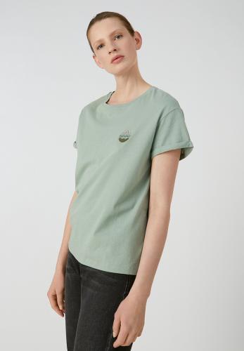 T-shirt vert en coton bio - naalin girl scout - Armedangels