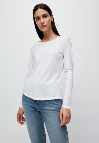 T-shirt manches longues blanc en coton bio - rojaa - Armedangels