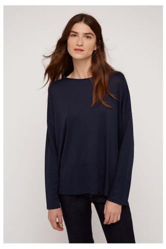 T-shirt à manches longues marine en tencel et coton bio - leigton - People Tree