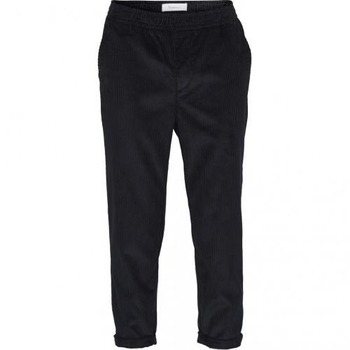 Pantalon velours marine en coton bio