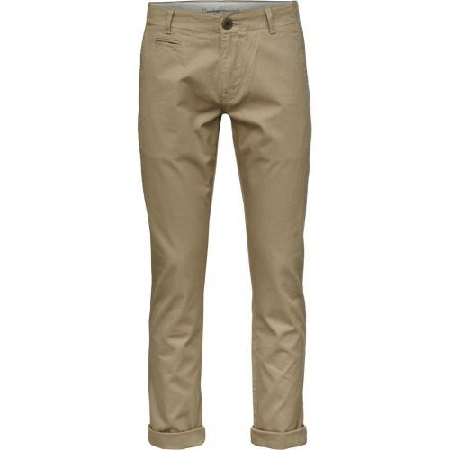 Pantalon chino beige en coton bio - chuck