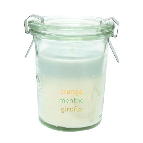 Bougie VÉGÉTALE parfumée la Bienfaisante - Orange, menthe et girofle