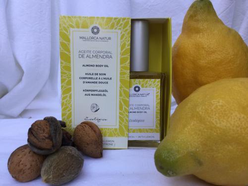 Huile de soin corporelle - Amande Citron bio de Majorque - 50ml