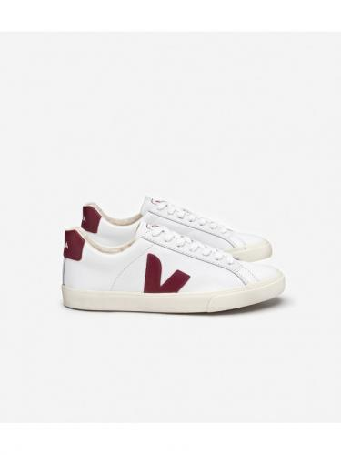 Esplar Logo Leather - Extra White Marsala - Veja