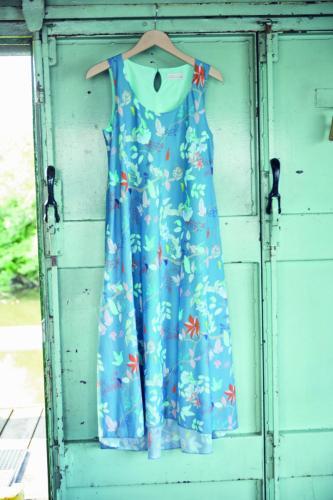 Robe longue en voile de coton bio