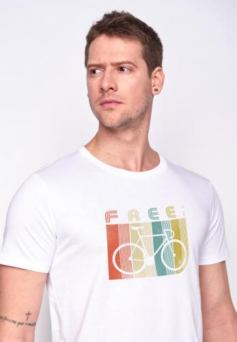 T-shirt Bike retro stripes