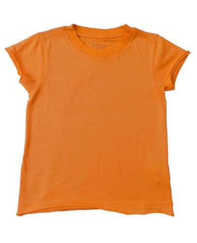 T-shirt orange en coton bio