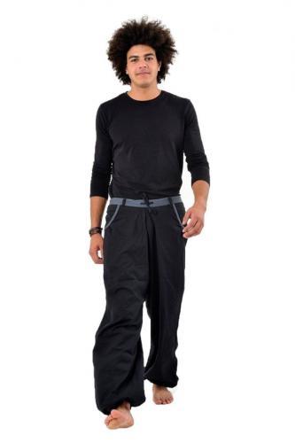 Pantalon homme Pradip Noir et gris