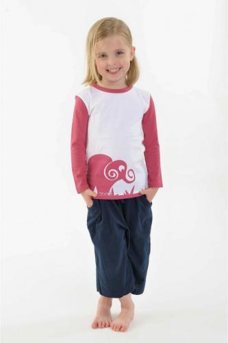 Tshirt enfant Elephant pur coton bio manches longues