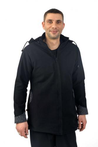 Veste homme femme basic ethnic doublée polaire