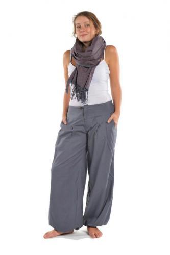 Pantalon bouffant mixte Kerman gris bleu