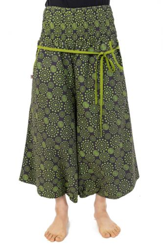 Sarouel pantacourt jupe femme elastique imprime etoile