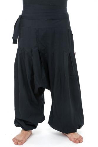 Pantalon sarouel basique zen Yuma noir