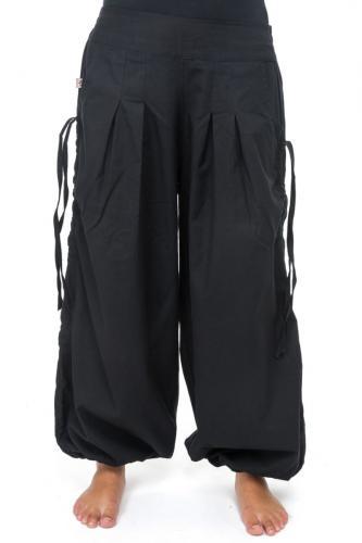 Pantalon fantasy aladin basic ethnic mixte coton epais noir