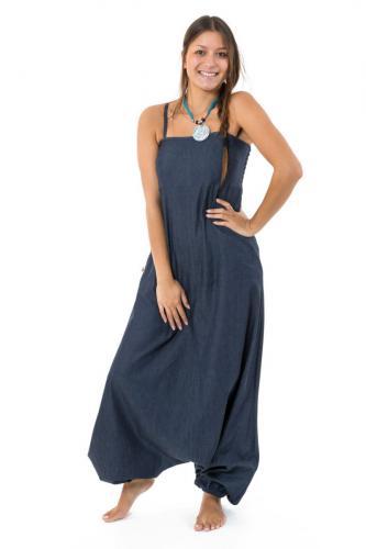 Combinaison sarouel denim blue jean soft ethnic street Salma