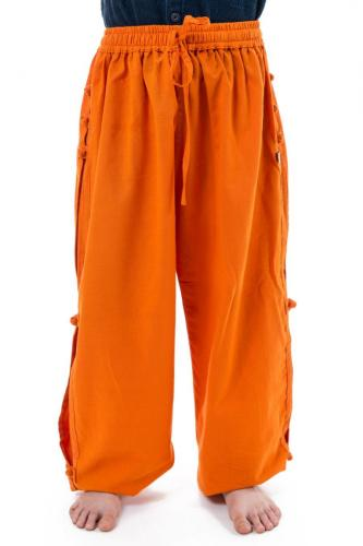 Pantalon japonais enfant modulable orange