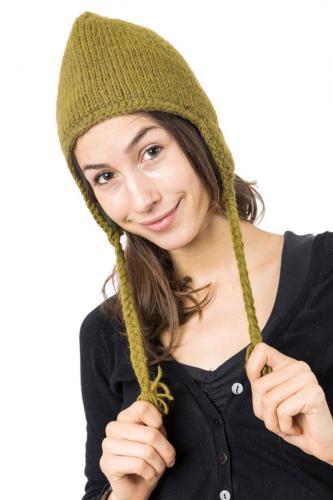 Bonnet kakis pure laine et polaire douce du Nepal