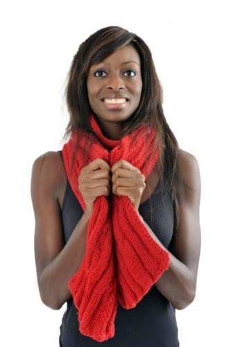 Echarpe pure laine douce rouge