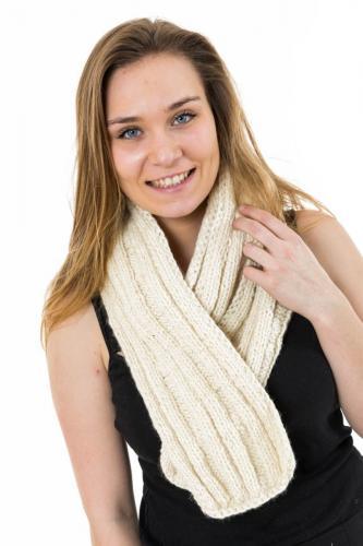 Echarpe pure laine douce creme