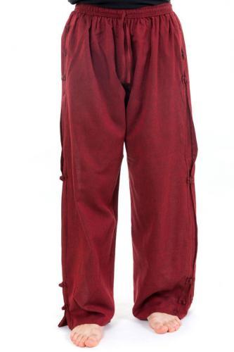 Pantalon japonais large relax mixte bordeaux