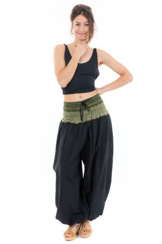 Pantalon sarouel indian chic sari kaki