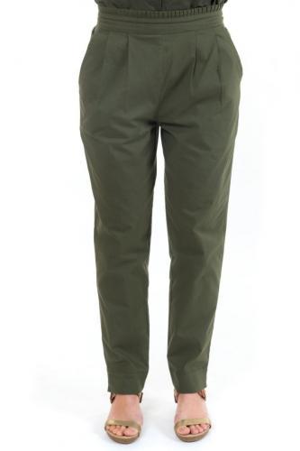 Pantalon carotte femme army chic