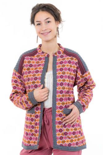 Veste femme broderies ethnic chic Kadahi