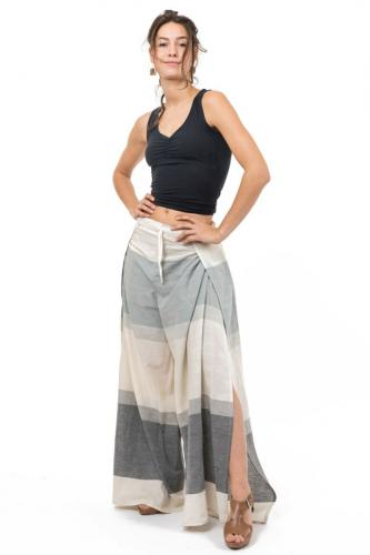 Pantalon femme fluide jambe fendue personnalisable