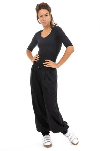 Pantalon fluide noir chic Bagheerah