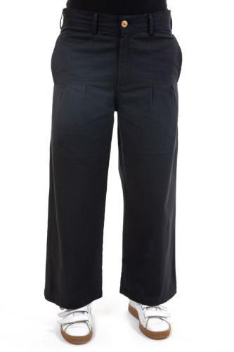 Pantalon large avec pinces noir Deenah
