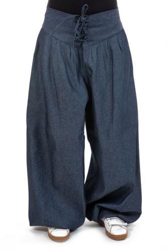 Pantalon aladin jean ceinture corset femme