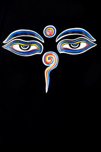 Tee shirt homme yeux de bouddha Bodnath