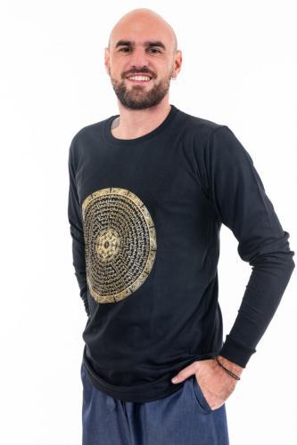 T-shirt manches longues homme mandala or