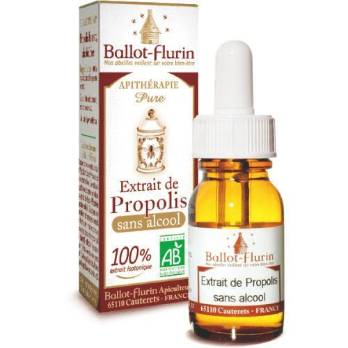 Gouttes extrait de propolis bio sans alcool