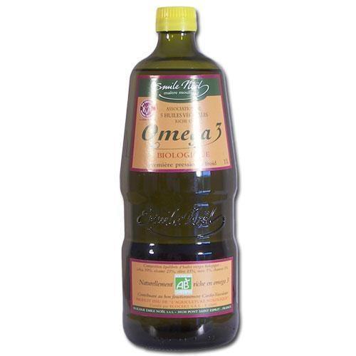 Mélange de 5 huiles végétales bio riche en Oméga 3