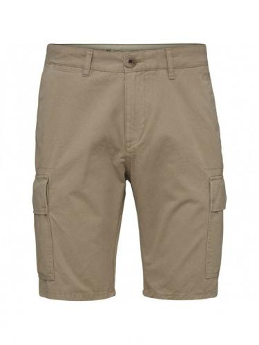 Cargo shorts - Light feather gray - Knowledge cotton apparel