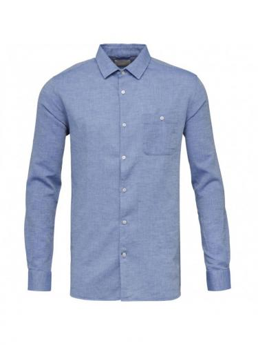 Structured shirt  - Strong blue - Knowledge cotton apparel