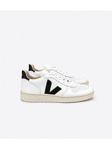 V10 leather - Extra White Black - Veja