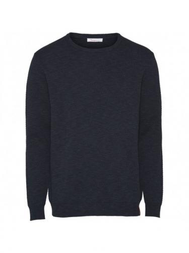 Bobble knit crew-neck/Vegan - Knowledge cotton apparel
