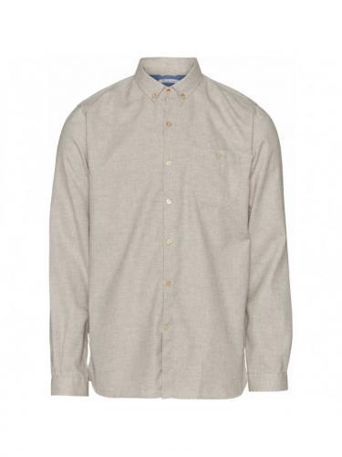 Melange Effect Flannel Shirt GOTS/Vegan - Greige - Knowledge cotton apparel