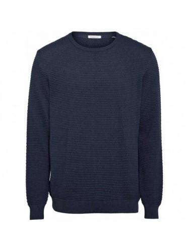 Field o-neck sailor knit - Total Eclipse - Knowledge cotton apparel