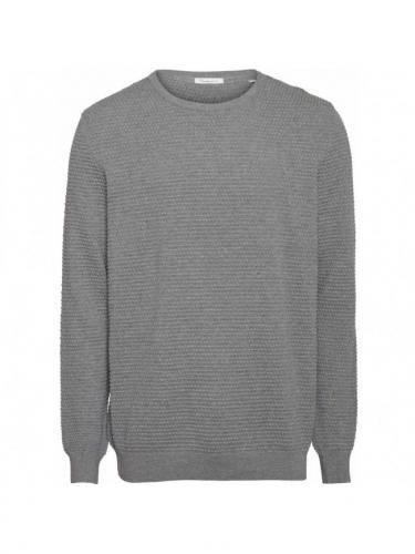 Field o-neck sailor knit - Grey Melange - Knowledge cotton apparel